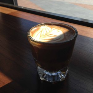 A nice little cortado in the window of Bump n Grind